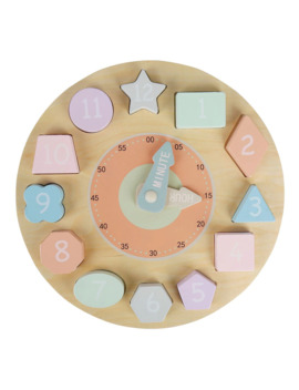 Young Ones Wooden Clock Puzzle by Target