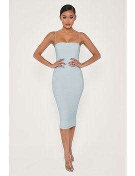 Jalia Shimmer Midi Dress   Baby Blue by Meshki