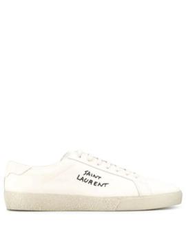 Logo Low Top Sneakers by Saint Laurent