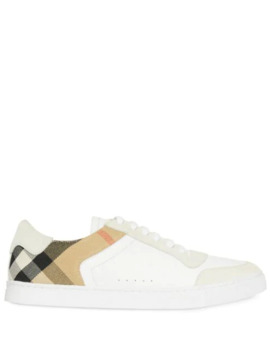 House Check Panel Sneakers by Burberry