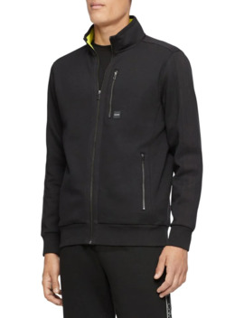 Tonal Blocked Collar Full Zip Jacket by Calvin Klein
