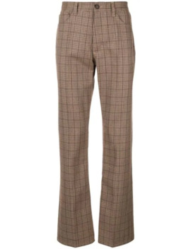 Checkered Straight Leg Trousers by Marni