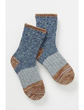 Hansel From Basel Marled Crew Socks by Hansel From Basel