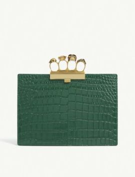Embellished Leather Clutch by Alexander Mcqueen