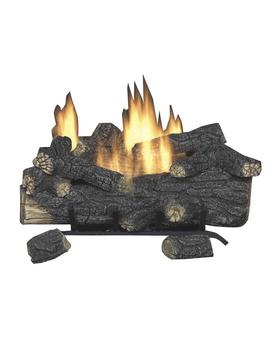 Savannah Oak 24 In. Vent Free Natural Gas Fireplace Logs With Remote by Emberglow