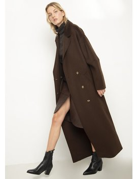 Espresso Loane Coat By Nanushka by The Frankie Shop