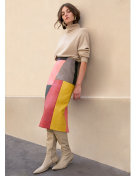 Raoul Colorblock Leather Skirt By Eudon Choi by The Frankie Shop