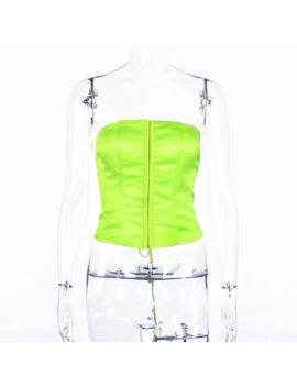 Women Boob Tube Top Bralet Bustier Sheer Mesh Crop Top T Shirt Tank Top Vest by Ebay Seller