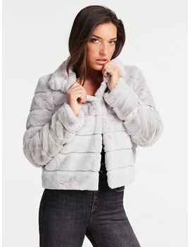 AppliquÉ Faux Fur Jacket by Guess
