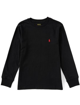 Childrenswear Big Boys 8 20 Long Sleeve Jersey T Shirt by Polo Ralph Lauren