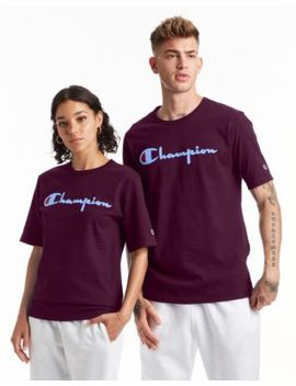 Champion Life® Men's Heritage Tee, Flock 90s Logo by Champion