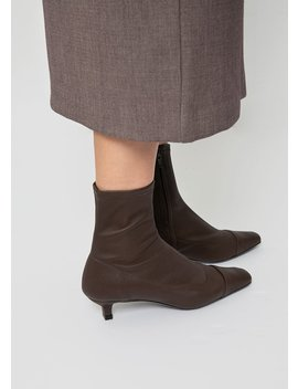 By Far Karl Brown Stretch Fabric Boots by The Frankie Shop