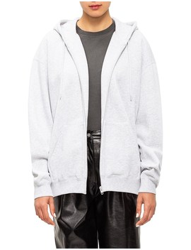 Bb Logo Back Pulled Zip Up Hoodie by Balenciaga