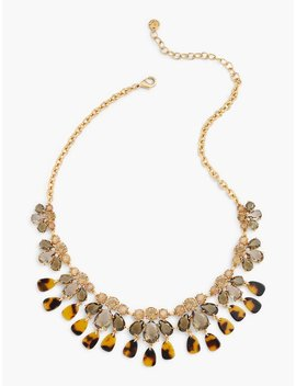 Tortoise & Crystal Statement Necklace by Talbots