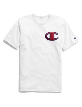 Champion Life® Men's Heritage Tee, Floss Stitch C Logo by Champion