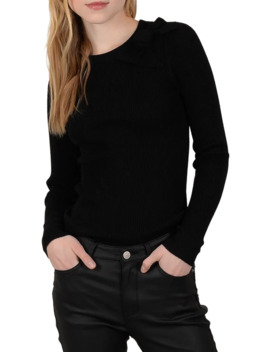 Bow Crewneck Sweater by Molly Bracken