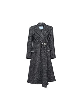 Coat With Chevron Motif by Prada