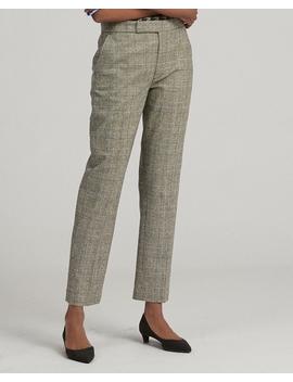 Glen Plaid Wool Blend Pant by Ralph Lauren