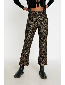Uo Nicky Jacquard Flare Trousers by Urban Outfitters