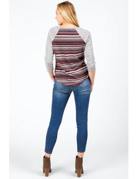 Eastan Keyhole Striped Tee by Francesca's