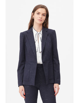 Tailored Cross Hatch Suiting Jacket by Rebecca Taylor