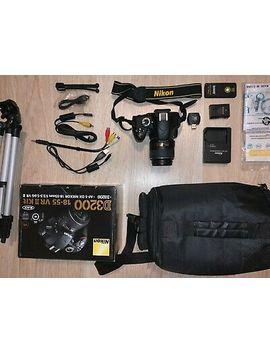 Nikon D3200 (Black) 18 55 Vr 2 Kit   Af S Dx Nikkor 18 55mm F/3.5 5.6 G Vr 2 by Ebay Seller