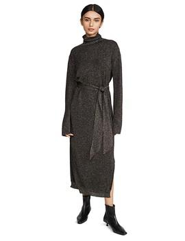 Canaan Coat Metallic Dress by Nanushka