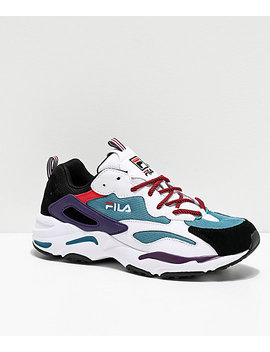 Fila Ray Tracer Harbor Blue, White & Black Shoes by Fila