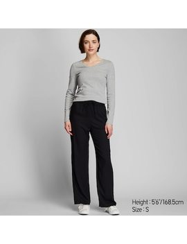 Women Drape Straight Leg Trousers (11) by Uniqlo