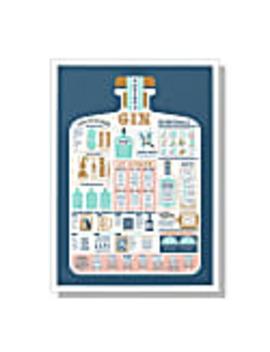 The Gin Guide A2 Print by Stuart Gardiner Design
