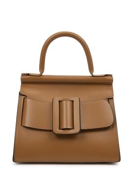 Karl 24 Brown Leather Cross Body Bag by Boyy