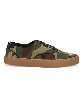 Camo Low Top Sneakers by Saint Laurent