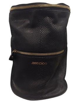 Bucket Black Python Leather Shoulder Bag by Jimmy Choo