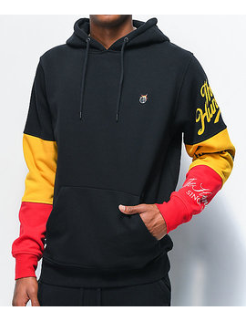 The Hundreds Hollow Black, Red & Yellow Hoodie by The Hundreds