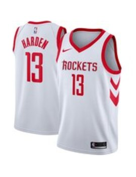 Men's Houston Rockets James Harden Nike White Swingman Jersey   Association Edition by Nba Store