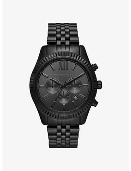 Oversized Lexington Black Tone Watch by Michael Kors