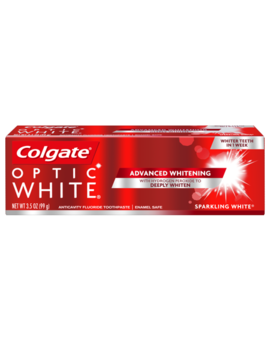 Colgate Optic White Whitening Toothpaste, Sparkling White, 3.5 Ounce by Colgate