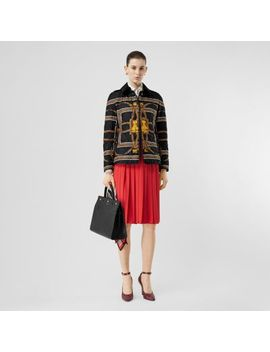 Archive Scarf Print Diamond Quilted Jacket by Burberry