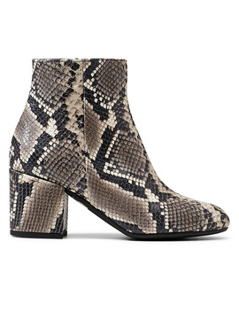 Faux Snakeskin Ankle Boots by Simons