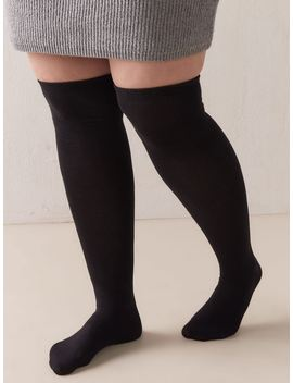 Solid Over The Knee Socks   Addition Elle by Penningtons