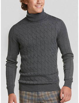 Paisley & Gray Slim Fit Turtleneck Sweater, Charcoal by Paisley & Gray