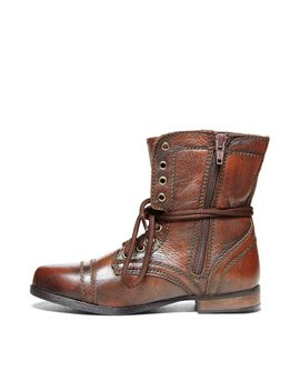Jtroopa Brown Leather by Steve Madden