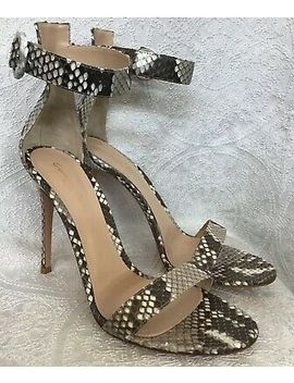 Gianvito Rossi Python Ankle Strap High Sandal Gray And White New Size 40 by Ebay Seller
