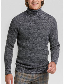 Paisley & Gray Slim Fit Turtleneck Sweater, Navy by Paisley & Gray