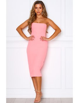 Bellini Breeze Midi Dress Neon Pink by White Fox