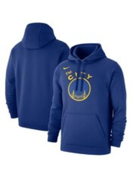 Men's Golden State Warriors Nike Royal Hardwood Classics Club Pullover Fleece Hoodie by Nba Store