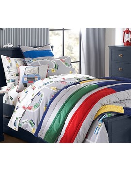 Organic Maxwell Train Sheet Set by Pottery Barn Kids