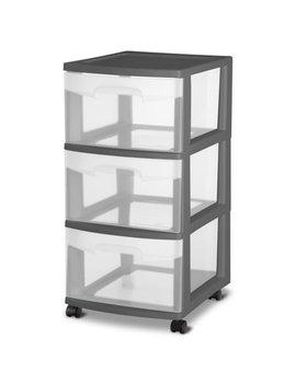 Sterilite, 3 Drawer Cart, Gray Flannel by Sterilite