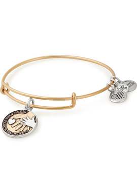 Hand In Hand Two Tone Charm Bangle by Alex And Ani