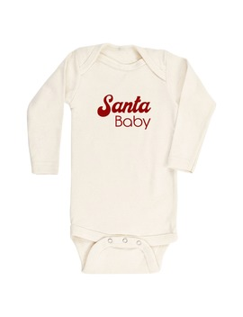 Organic Cotton Santa Baby Bodysuit by Tenth & Pine
